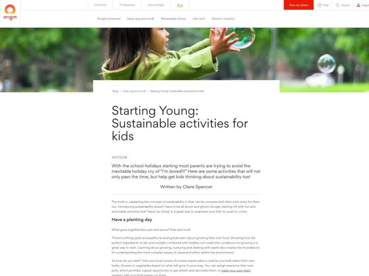 Sustainable activities for kids